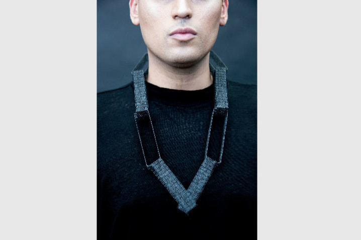 Jess Tolbert-4 Necklace, 2019  Fused steel staples