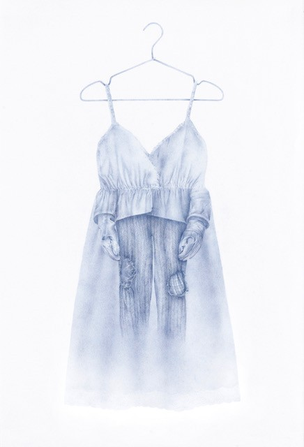 Azita Moradkhani – Labor, Colored pencil on Stonehenge paper, 66 x 101 Cm, 2020